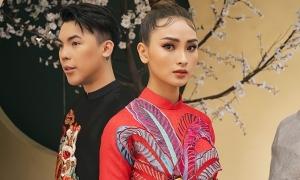 Huyền Trang làm mẫu cùng Kenbi Khánh