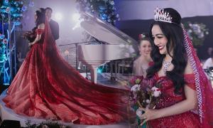 Váy cưới 1 tỷ đồng của CEO Forbes Việt Nam