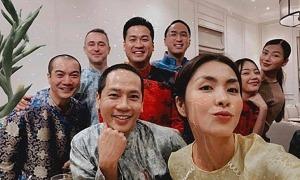 Vợ chồng Tăng Thanh Hà làm tiệc tất niên