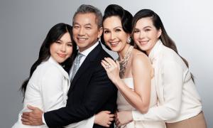 Diễm My bên chồng đại gia và hai con gái