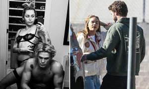 Miley Cyrus, Liam Hemsworth bên tình mới