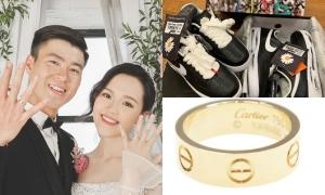 'Bóc giá' đồ cưới hàng hiệu của Duy Mạnh, Quỳnh Anh