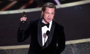 Brad Pitt cảm ơn các con khi thắng Oscar