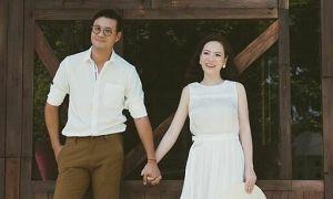 Đan Lê ngọt ngào với chồng