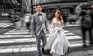 Ảnh cưới của uyên ương gốc Việt ngành y dược