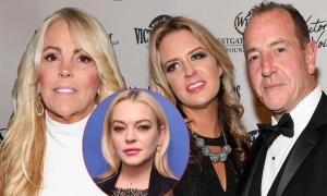 Mẹ đẻ và mẹ kế của Lindsay Lohan sống cùng nhau