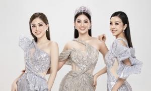 Tiểu Vy và hai á hậu diện váy cắt xẻ
