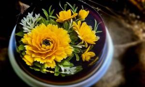 'Hoa đua nở' trên bánh thạch 3D của mẹ 7X