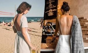 Váy hở lưng cho mùa hè