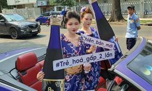 Dàn người mẫu mặc kimono truyền tải thông điệp làm đẹp tại TP HCM