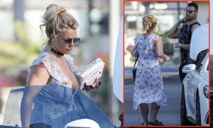 Britney xỏ dép lê vào khách sạn với bồ trẻ