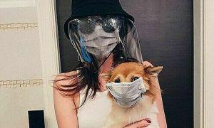 Ảnh sao 12/3: Hoa hậu Khánh Vân và chó cưng phòng dịch