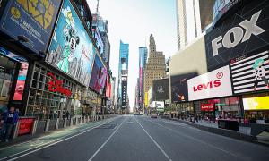 New York vắng vẻ đến 'điên rồ' vì Covid-19