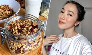 Cách làm granola ăn sáng, ăn vặt không lo béo