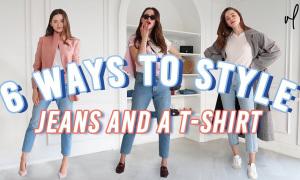 6 cách mix quần jeans và áo thun trắng