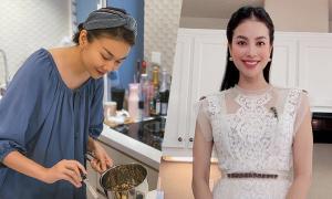 Trang phục vào bếp của sao Việt