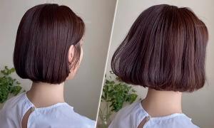Mẹo uốn phồng đuôi tóc ngắn