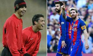 C. Ronaldo và Messi trong mắt đồng đội cũ