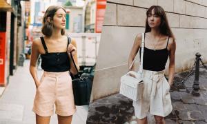 Phối quần short mùa hè