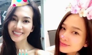 Dương Mỹ Linh mừng sinh nhật Anh Thư