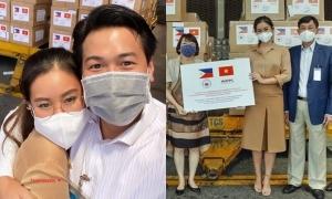 Gia đình Tiên Nguyễn tặng Philippines khẩu trang y tế