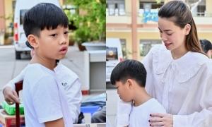Hồ Ngọc Hà đưa Subeo đi trao quà từ thiện