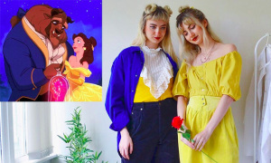 Cặp song sinh hiện thực hóa trang phục hoạt hình