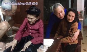 Cụ ông dỗ dành vợ 90 tuổi đi ngủ