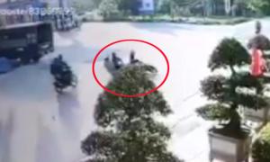 Gây tai nạn liên hoàn vì sang đường ẩu