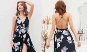 Váy hở lưng bay bổng ngày hè