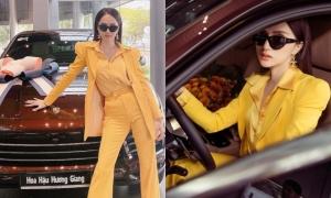 Hoa hậu Hương Giang mua ôtô gần 5 tỷ đồng