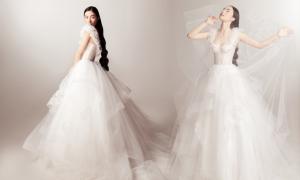 Helly Tống hóa cô dâu với váy cưới cao cấp