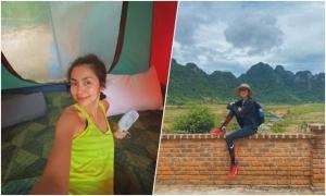 Tăng Thanh Hà thám hiểm hang Tú Làn