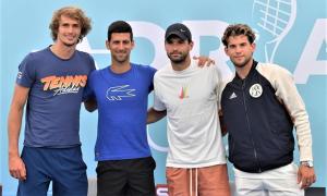 Nhiều tay vợt, HLV nhiễm nCoV ở giải Djokovic tổ chức