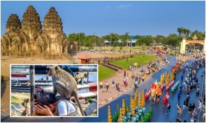'Thành phố khỉ' ở Thái Lan