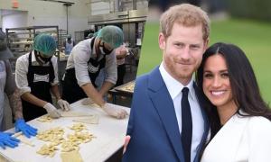 Harry và Meghan đến tiệm làm bánh tình nguyện