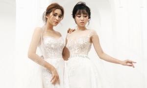 Váy cưới satin, tối giản lên ngôi
