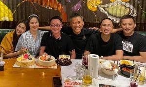 Ảnh sao 1/7: Vợ chồng Tăng Thanh Hà dự sinh nhật bạn