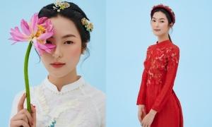 Áo dài cô dâu tôn nét đẹp Á đông