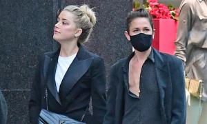Amber Heard rời tòa cùng người tình đồng giới