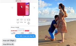 Mạc Hồng Quân được vợ tặng điện thoại iPhone mới