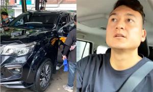 Văn Lâm vừa rửa xe thì trời mưa
