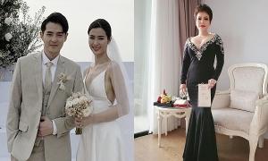 Sao Việt bị chê mặc quá nổi bật khi dự cưới