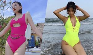 Sao Việt lăng xê áo tắm màu nổi