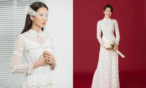 Anh Thư hóa cô dâu với áo dài Minh Châu