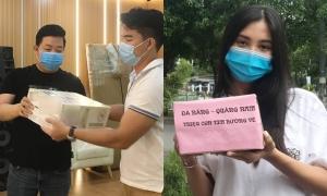 Quang Lê, Tiểu Vy vận chuyển hàng hóa giúp Đà Nẵng
