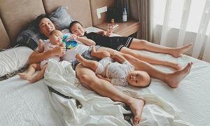 Ảnh sao 8/8: Thành Trung hạnh phúc bên ba con