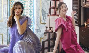 Váy bầu hợp trend của Đông Nhi