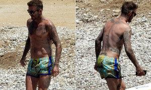 Becks mặc quần bơi giá hơn 360 bảng