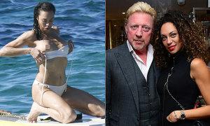Vợ cũ Becker bị tuột dây áo bơi